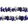 Bow Beads (Farfalle) 3.2x6.5mm Royal Blue Labrador Transparent